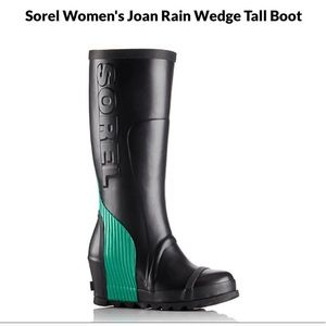 Sorel Joan Rain Wedge Tall Boot size 8